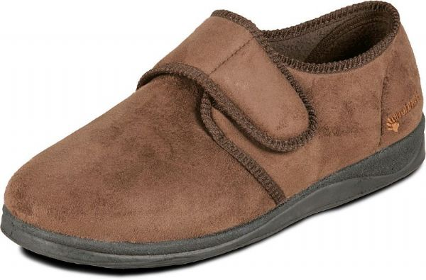 Charles, Wide fitting mens slipper available in brown